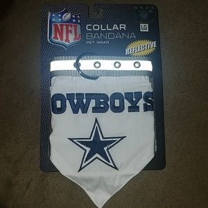 NWT NFL Dallas Cowboys PET Collar Bandana, sz LG